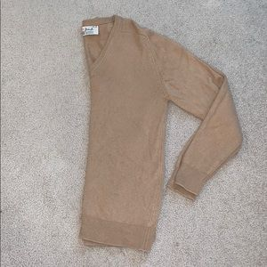 Vintage Tan 100% Cashmere Sweater